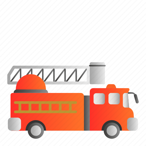 fire engine, transportation, vehicle icon