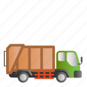 garbage, garbage truck, transportation, truck icon