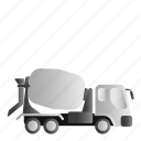 concrete, concrete mixer, mixer, transportation icon