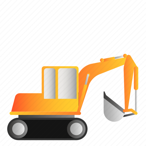 Excavator, transportation, vehicle icon - Download on Iconfinder