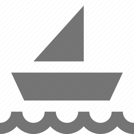 boat, sail, transportation, wave icon