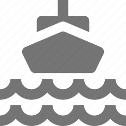 boat, ship, transportation, waves icon