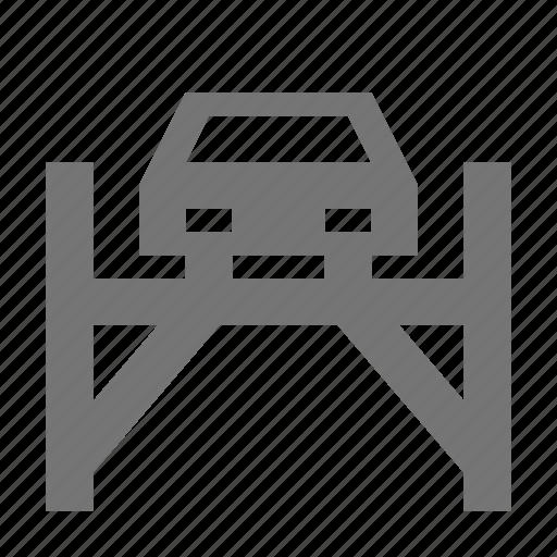 bridge, car, lift, transportation icon