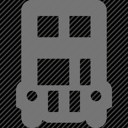 bus, double decker, transportation, truck icon