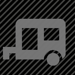 camper, trailer icon
