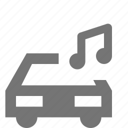 audio, car, music, sound, transportation icon