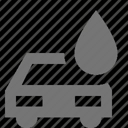 car, transportation, water icon
