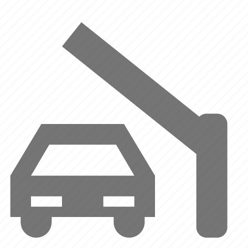 car, gate, toll, transportation icon