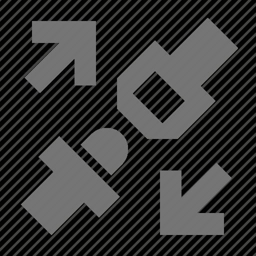 arrows, seatbelt icon