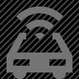 car, signal, transportation, wifi icon