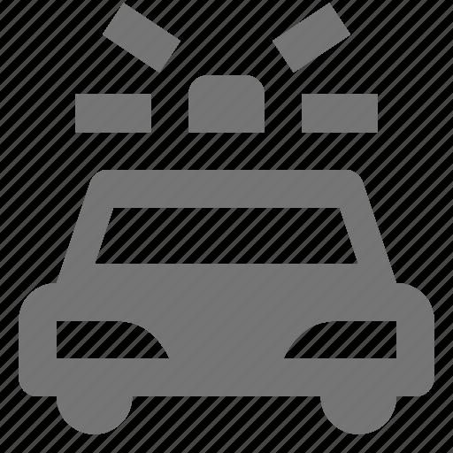 car, police car, siren, transportation icon