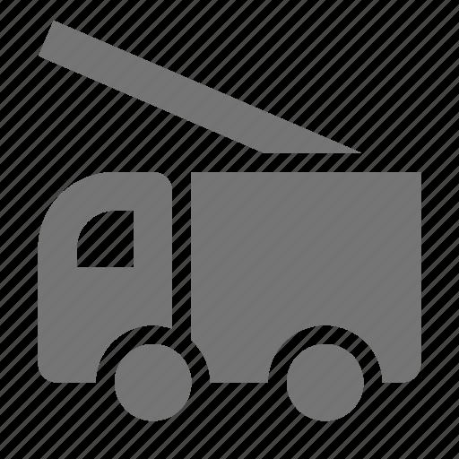 construction, fire truck, transportation icon