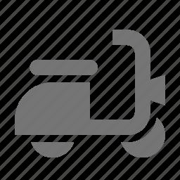 motorbike, motorcycle, motorscooter, scooter, transportation, vespa icon