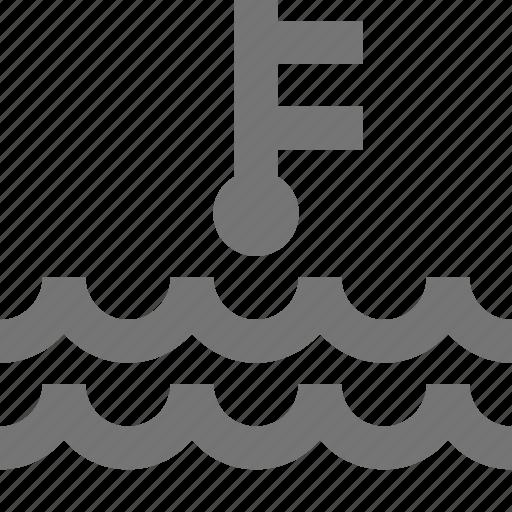 sea level, temperature, waves icon