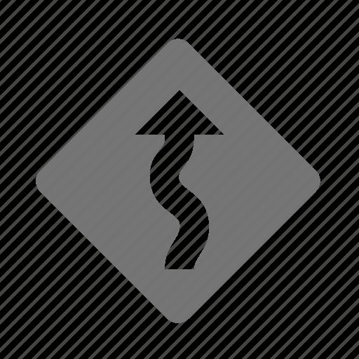 arrow, curve, sign icon