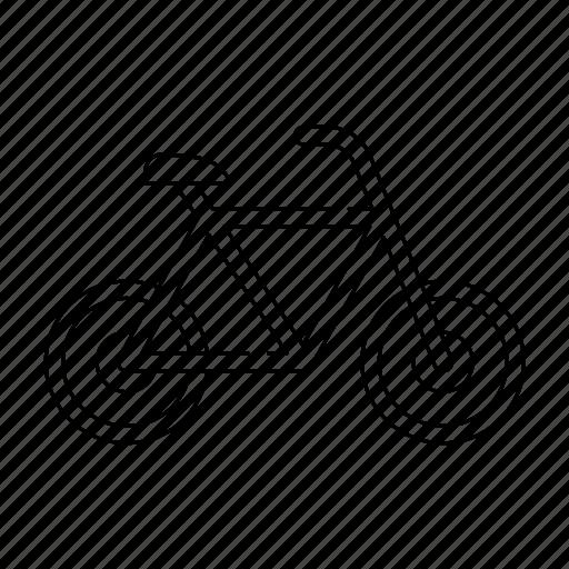 bicycle, bike, sport, thin, transport, transportation, travel icon