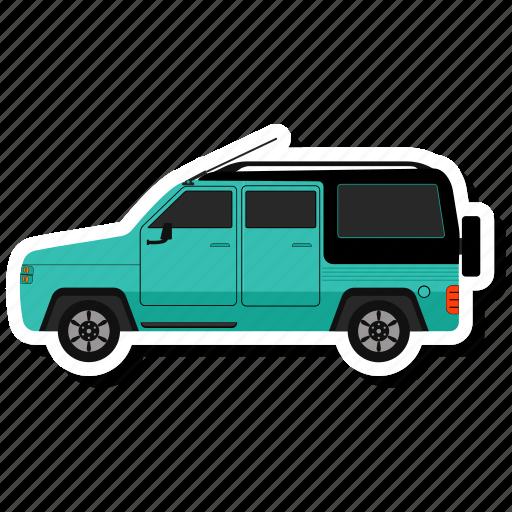 Delivery, van, transport, vehicle icon
