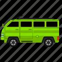 car, side, transit, van