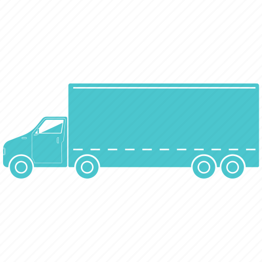 lorry, outline, small, transport icon