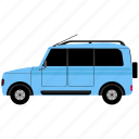 camper, outline, transport, van icon