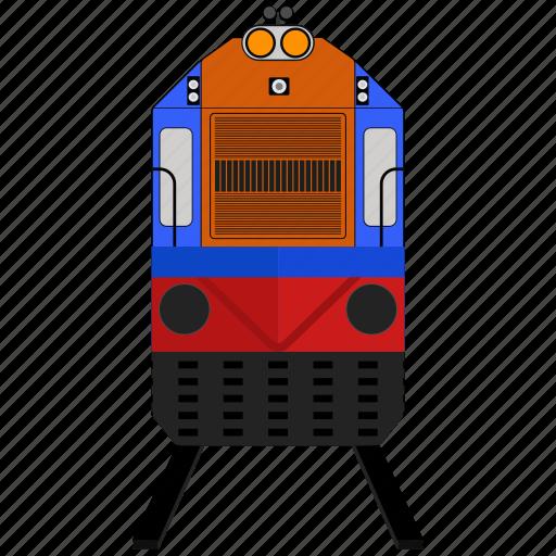 Railroad, railway, train, transportation icon - Download on Iconfinder