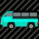 camper, outline, transport, van
