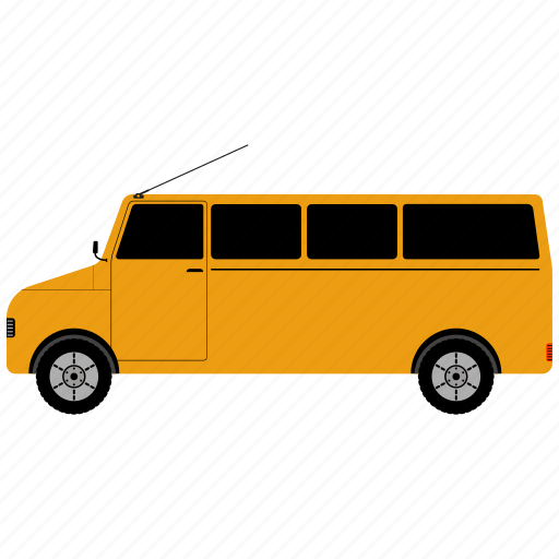 auto, bus, transport, vehicle icon