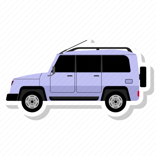 car, side, transit, van icon