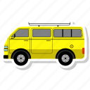 bus, school, transport, van, vehicle icon