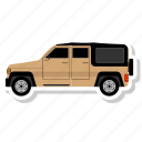 car, side, transit icon