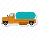 delivery, gas, oil truck, shipping, truck icon