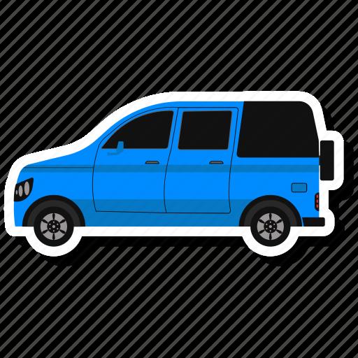 camper, outline, transport, van icon