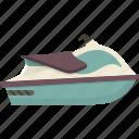 jet, ski, water icon