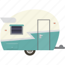 camper, caravan, retro, trailer icon
