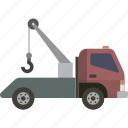tow, tow truck, truck icon