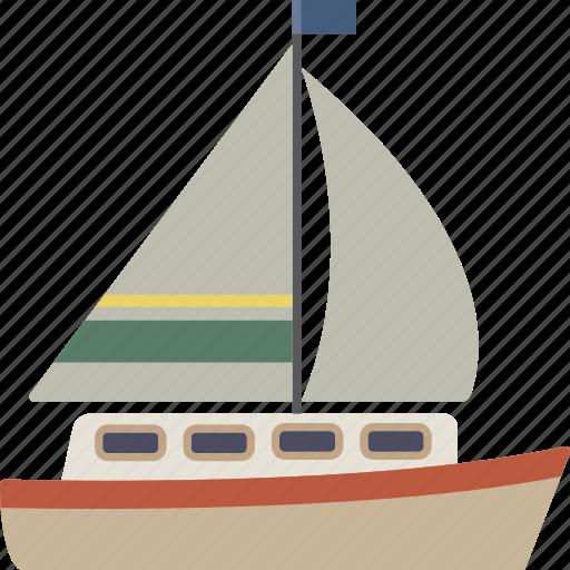 boat, sail icon