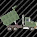 truck, dump, dumptruck, dump truck