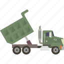 dump, dump truck, dumptruck, truck icon