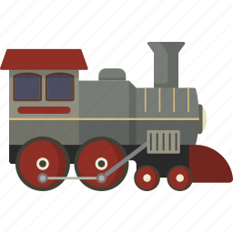 locomotive, train icon