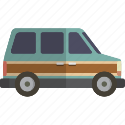 car, minivan icon