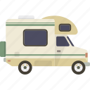 camper, caravan, motor home, motorhome, rv icon