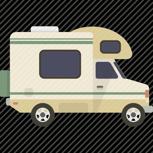 camper, caravan, motorhome, rv icon