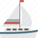 boat, sail, sail boat, sailboat, yacht icon