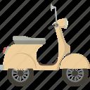 scooter, vespa, motorbike icon