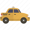 cab, taxi, taxicab icon