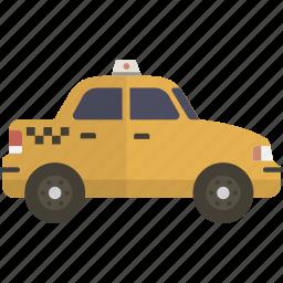 cab, taxi, taxicab icon
