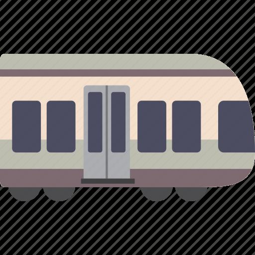 metro, rail, subway, train icon