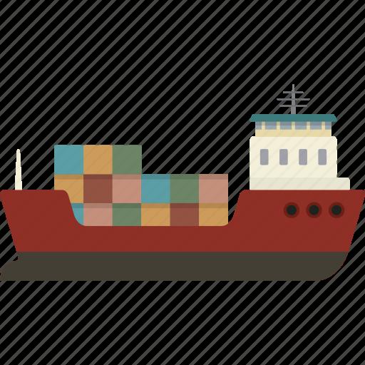 cargo, freight, ship, shipping icon