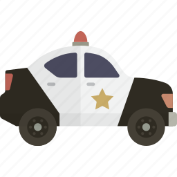 car, police, security icon