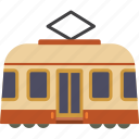 rail, streetcar, tram, transport, trolley icon